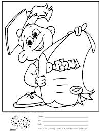 graduation coloring pages marvelous brmcdigitaldownloads com