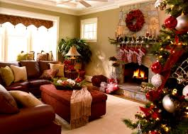 furniture magnificent christmas decor living room decorated