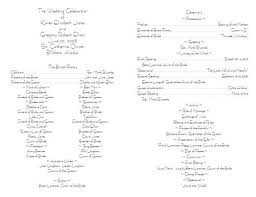 Wedding Programs Examples One Page Wedding Program Wording Examples Finding Wedding Ideas