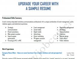 Sample Resume With Picture by Upgrade Your Career And Resume With Integrated Marketing