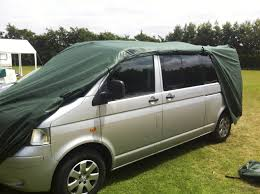 vw minivan camper kampa breathable vw camper van cover t4 t5 or transporter green
