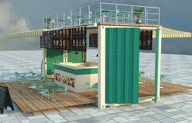 converted shipping container ice cream shop cas