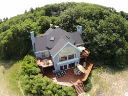 creekside on lake michigan vacation rental with 330 feet of
