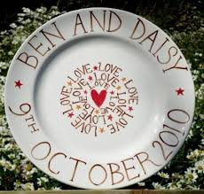 personalized anniversary plate 35 best wedding images on ceramic painting painted