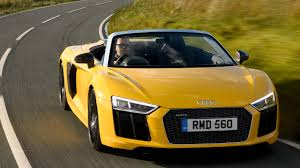 Audi R8 Yellow - audi r8 v10 spyder 2017 review by car magazine