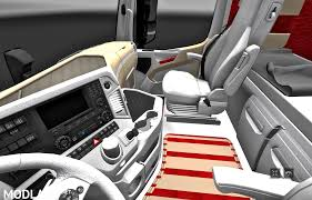 mercedes benz actros mp4 red mercedes actros mp4 2014 white biege red interior 1 27x mod
