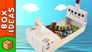 diy cardboard boat craft ideas for kids on boxyourself youtube