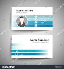 modern simple business card template vector stock vector 238253152