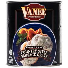 vanee 590px 10 can country style sausage gravy 6 case