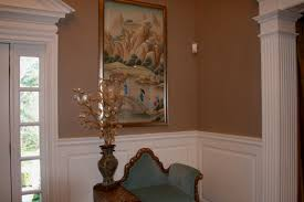nice cream concrete wall of the benjamin moore interior paint