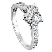 Heart Shaped Wedding Rings by Round Cut Diamond Engagement Rings Martha Stewart Weddings