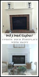 painted brick fireplace ideas contemporary surrounds red surround
