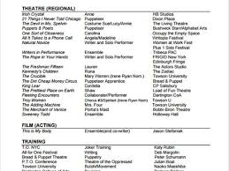 100 actors resume template word theater resume format theater
