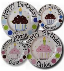personalized birthday plate personalized ceramic crosses birthday plates cupcake plates