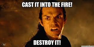 Fire Meme - it into the fire