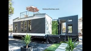 tiny home 2 story kokoon home kits two 8x24 tiny homes youtube