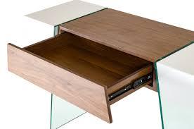 modrest sven contemporary white u0026 walnut floating console table