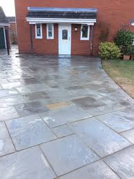 Indian Sandstone Patio by Greenacres Landscapes Quality Driveways And Patios Ellesmere Port