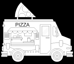 pizza food truck free online coloring page