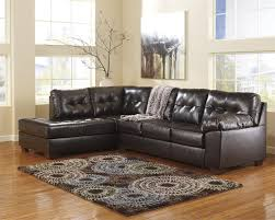 Ashley Furniture Sofa Chaise Alliston Chocolate Left Arm Facing Chaise Sectional By Ashley