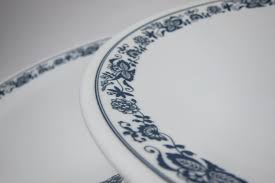 Corelle Dish Sets Vintage Corelle Plates By Corning White Plate Blue Trim Old Town