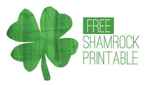 free st patrick u0027s day printable shamrock print youtube