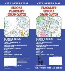 Grand Canyon Maps Flagstaff Sedona Grand Canyon Arizona Street Map Gm Johnson