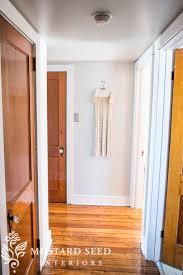 white trip oak doors gray walls w orangey oak nice example