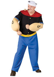 popeye the sailor popeye the sailor man plus size costume
