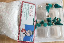 snow globe mini ornaments tutorial