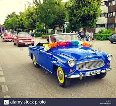 vintage cars vintage cars at garching traditional parade in the front a skoda