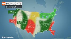 Radar Map Usa by 2017 Us Summer Forecast Early Storms To Hold Back Heat In