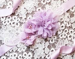 Flower Belts - lavender bridal sash etsy
