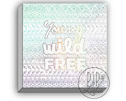 Dorm Wall Decor by Young Wild Free College Student Gift Bohemian Art College Dorm