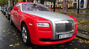 pimped rolls royce red rolls royce ghost from dubai in vienna youtube