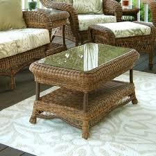 white wicker end table wicker coffee table coffee table rattan wicker coffee table with