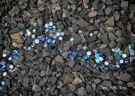 landscaping with shale rock and glass gems time with thea
