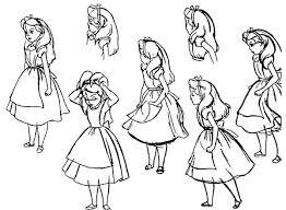 alice wonderland character coloring download u0026 print