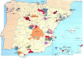 Alicante Spain Map by Large Wine Map Of Spain