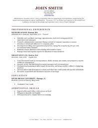 Sample Resume Format Resume Template by Expert Preferred Resume Templates Resume Genius