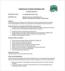 Bookkeeper Duties And Responsibilities Resume Accounts Payable Job Description Sample Job Analysis And Job