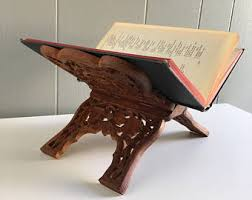 11 pakistan wood crafts sheesham book holder carving islamic holy indian book holder etsy