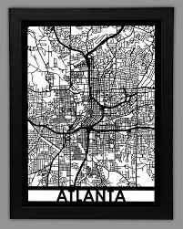 Atlanta Street Map Wall Art Ideas Design High Display Atlanta Wall Art From Framed