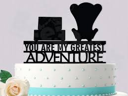 up cake topper disney up inspired cake topper you are my greatest adventure