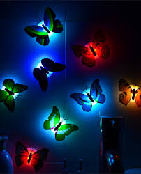 decoration lights for party wholesale colorful luminous artificial butterfly night light home