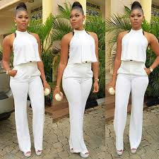 all white jumpsuit 2017 s speed to sell sleeveless hanging neck vertical