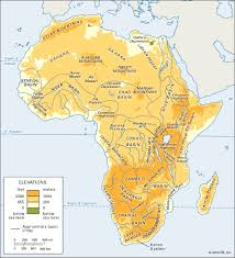 africa map senegal senegal basin physiographic regions of africa students