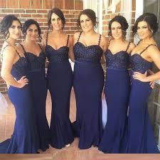 navy blue lace bridesmaid dress spaghetti straps blue lace bridesmaid dresses mermaid beaded