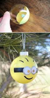 diy minion glitter ornament glitter ornaments minions and diy