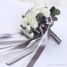 Artificial Flower Bouquets Romantic 2017 Ivory Wedding Bouquet All Handmade Bridal Flower